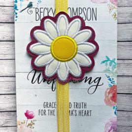 ITH – Daisy Applique – Book Band – Digital Embroidery Design