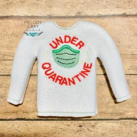 ITH – Under Quarantine Doll Sweater 5×7 – Digital Embroidery Design