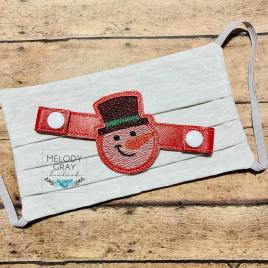 ITH Mask Extender Snowman – 2 sizes – DIGITAL Embroidery DESIGN