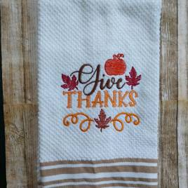 Give Thanks – 3 Sizes – Digital Embroidery Design