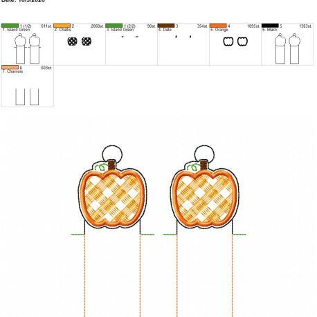 Plaid Pumpkin chapstick holder eyelet 5×7 grouped