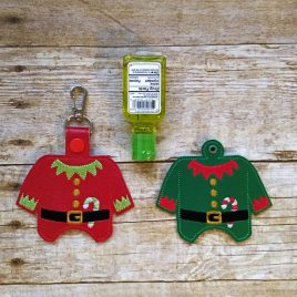 Elf Outfit Sanitizer Holders – Embroidery File, DIGITAL Embroidery DESIGN
