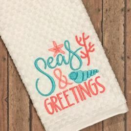 Seas & Greetings – 2 Sizes – Digital Embroidery Design