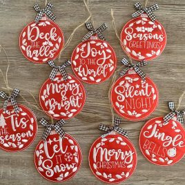 Holiday Ornament Set – Digital Embroidery Design