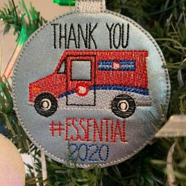 Canada Mail Carrier Essential 2020 Ornament – Digital Embroidery Design