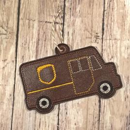 Brown Delivery Truck Ornament – Digital Embroidery Design