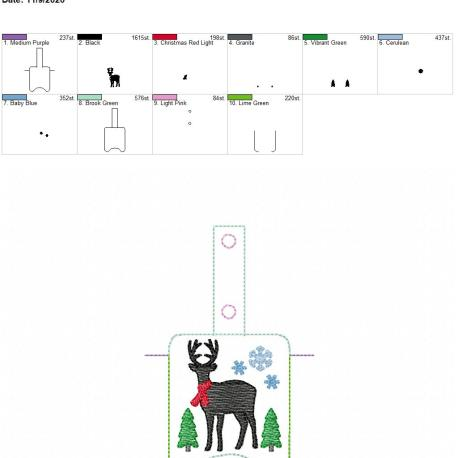 Farmhouse Deer Sanitizer holder snap tab 5×7