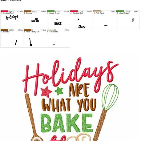 Holidays are what you bake them 6×10