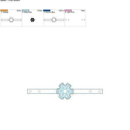 Mask Extender Snowflake 6×10