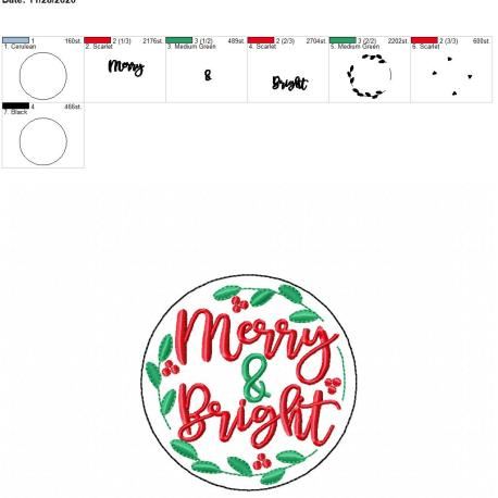 Merry & Bright coaster 4×4