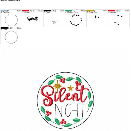 Silent Night coaster 4×4