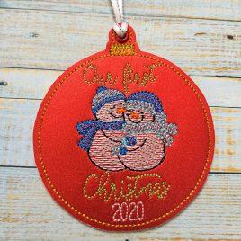 Our Frist Christmas 2020 Snowmen Ornament – Digital Embroidery Design