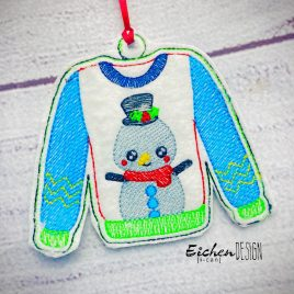Ugly Sweater Ornament – Digital Embroidery Design