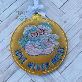 Love Never Melts Ornament – Digital Embroidery Design