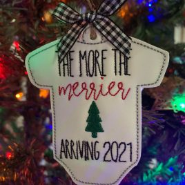 The More The Merrier 2021 Ornament – Digital Embroidery Design