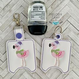 Santa Flamingo Sanitizer Holders – DIGITAL Embroidery DESIGN