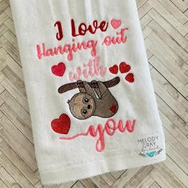 I Love Hanging Out With You – 3 sizes- Digital Embroidery Design