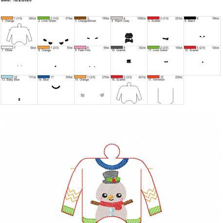Ugly Sweater sanitizer holder eyelet 4×4