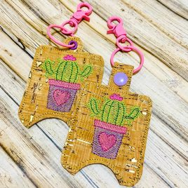 Heart Cactus Sanitizer Holders – DIGITAL Embroidery DESIGN