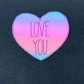 Convo Heart Love You Coaster 4×4 – DIGITAL Embroidery DESIGN