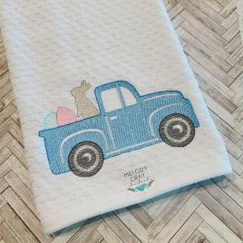Sketch Easter Truck – 2 sizes- Digital Embroidery Design