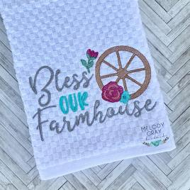Bless Our Farmhouse- 3 sizes- Digital Embroidery Design