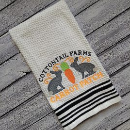 Cottontail Farms Carrot Patch – 3 sizes- Digital Embroidery Design
