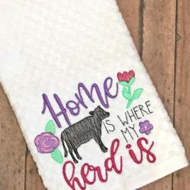 Home is Where Our Herd Is – 2 sizes- Digital Embroidery Design
