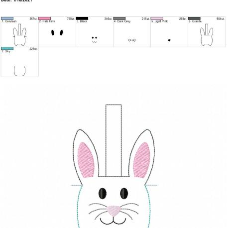 Bunny sanitizer holder snaptab 5×7