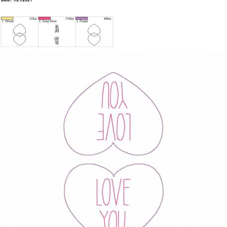 Convo Heart Love You Coaster 5×7 grouped