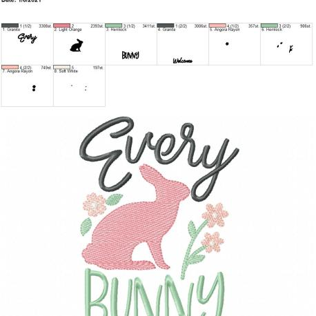 Every bunny welcome 5×7