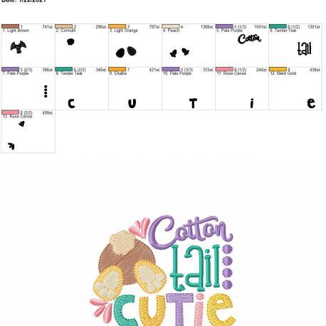 cotton tail cutie 4×4