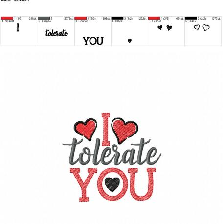 i tolerate you 4×4