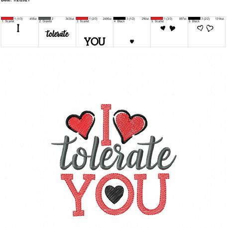 i tolerate you 5×7