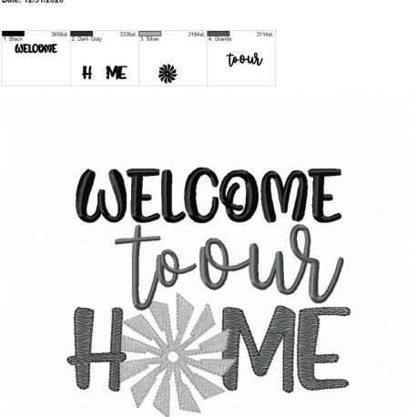 welcome to our home 6×10