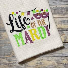 Life of the Mardi- 2 sizes- Digital Embroidery Design