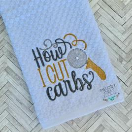 How I Cut Carbs – 3 sizes- Digital Embroidery Design