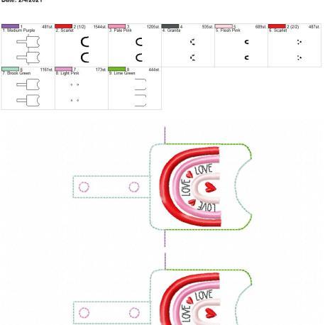 Boho Rainbow Love Sanitizer holder snap tab 5×7 grouped