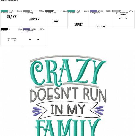 Crazy Family 5×7