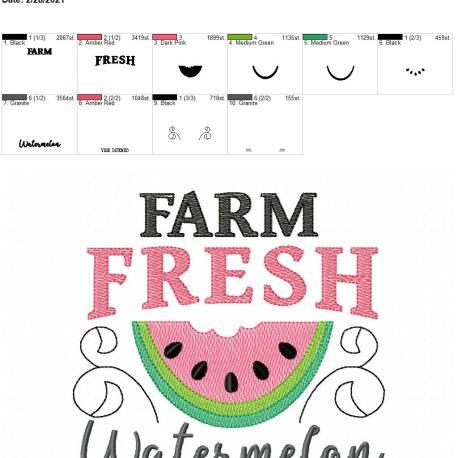 Farm fresh watermelon 6×10