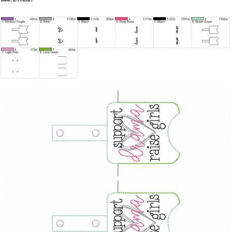 Support Drama Sanitizer holder snap tab 5×7 grouped
