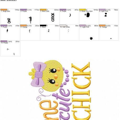 one cute chick 5×7