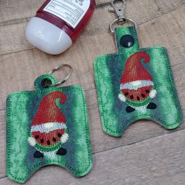Watermelon Gnome Sanitizer Holders – DIGITAL Embroidery DESIGN