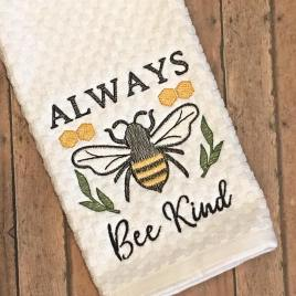 Always Bee Kind – 4 sizes- Digital Embroidery Design