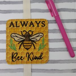 Always Bee Kind Book Band – Embroidery Design, Digital File