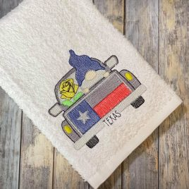 Gnome Texas Truck Sketch- 2 sizes- Digital Embroidery Design