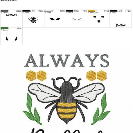 Always Bee Kind 6×10