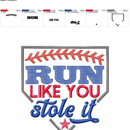run like you stole it 6×10
