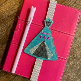 Boho TeePee Book Band – Embroidery Design, Digital File
