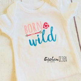 Boho Born Wild- 3 sizes- Digital Embroidery Design